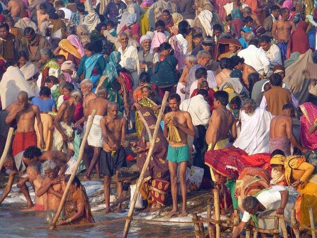 In der nordindischen Stadt Allahabad am Ganges findet derzeit die Kumbh Mela, das grösste Religionsfest der Welt statt.