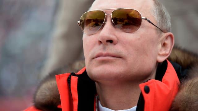 Wladimir Putin bei den Olympischen Winterspielen in Sotschi 2014.