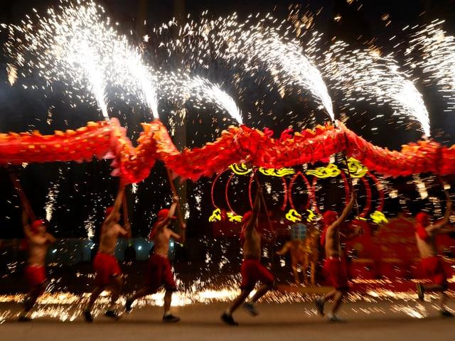 Tänzer in Peking