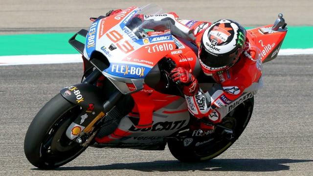 Lorenzo sin la moto.