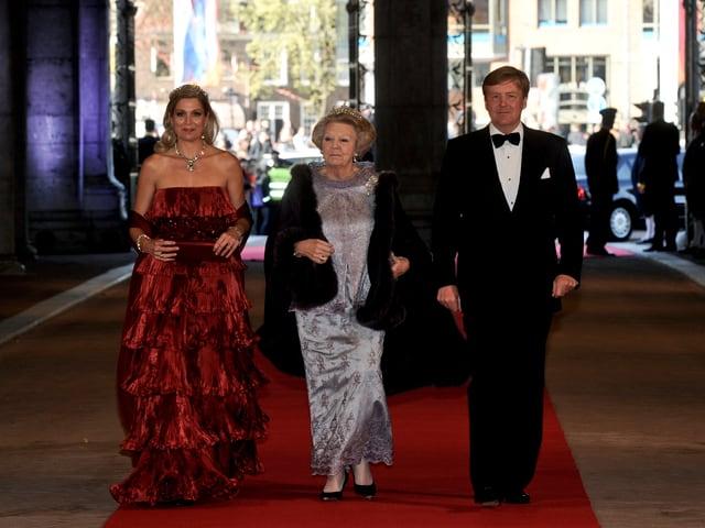 Máxima, Beatrix und Willem-Alexander