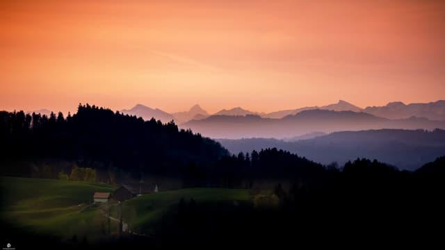 Morgenstimmung im Hinterthurgau bei Allenwinden.