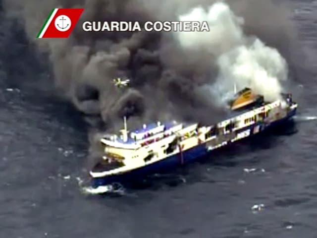 Auf der «Norman Atlantic» ist am Sonntag Feuer ausgebrochen