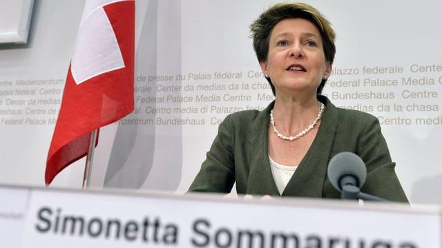 Porträt der Bundesrrätin Simonetta Sommaruga