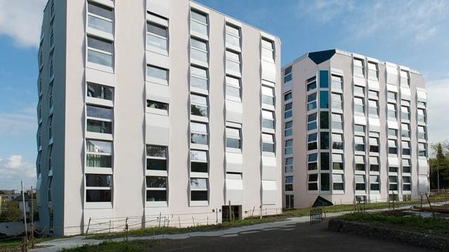 Städische Wohnsiedlung an der Rautistrasse in Zürich-Altstetten mit preisgünstigen Wohnungen