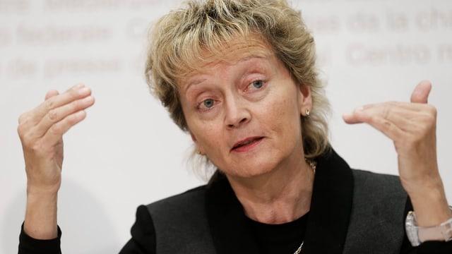 Finanzministerin Widmer-Schlumpf