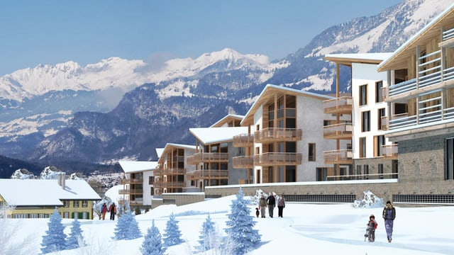 Eine Projektansicht des geplanten Brienzersee Resort in Oberried