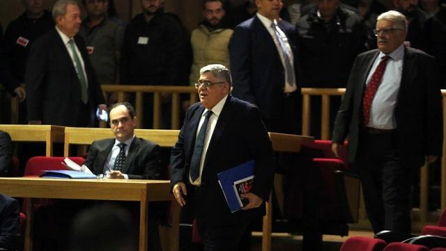 Michaloliakos beim Prozess in Athen, 2015