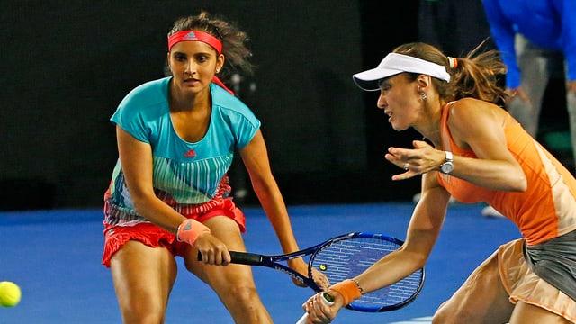 Sania Mirza und Martina Hingis.
