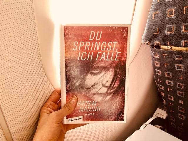 Der Roman von Maryam Madjidi: «Du springst, ich falle» vor einem Flugzeugfenster