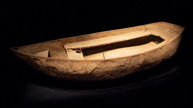 Betonboot im Museum: Der Prototyp des Bootes von Joseph-Louis Lambot befindet sich heute im Museum von Brignoles.