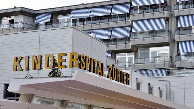 Frontansicht des Zürcher Kinderspitals