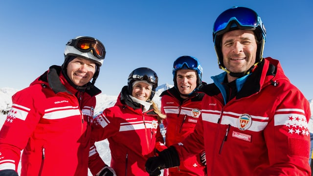 Die Skilehrer aus Sass-Fee.