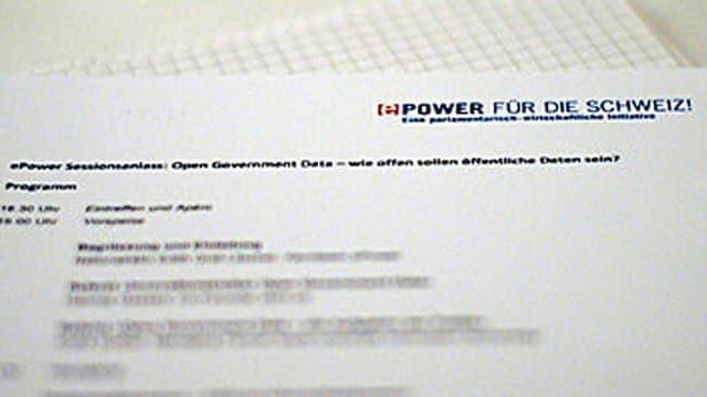 Ein Informationsschreiben der E-Power.