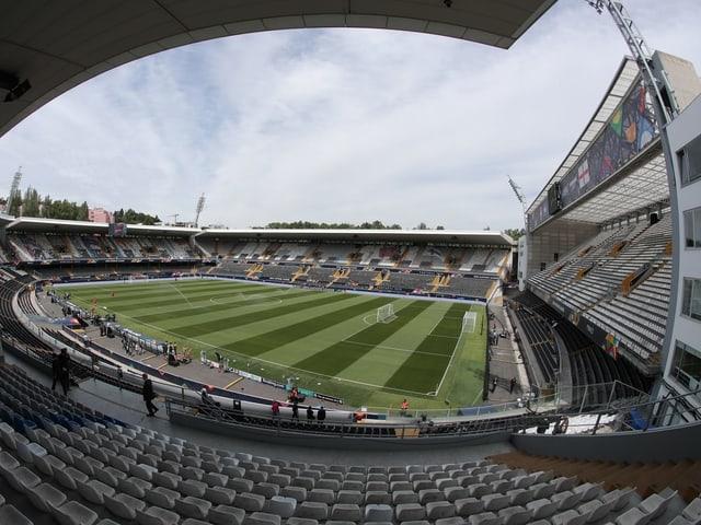 Das Stadion in Guimaraes.