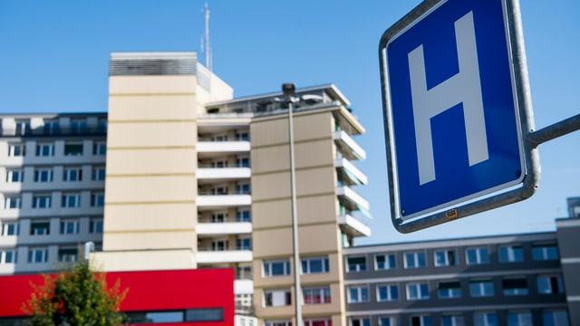 Das Spital von aussen.