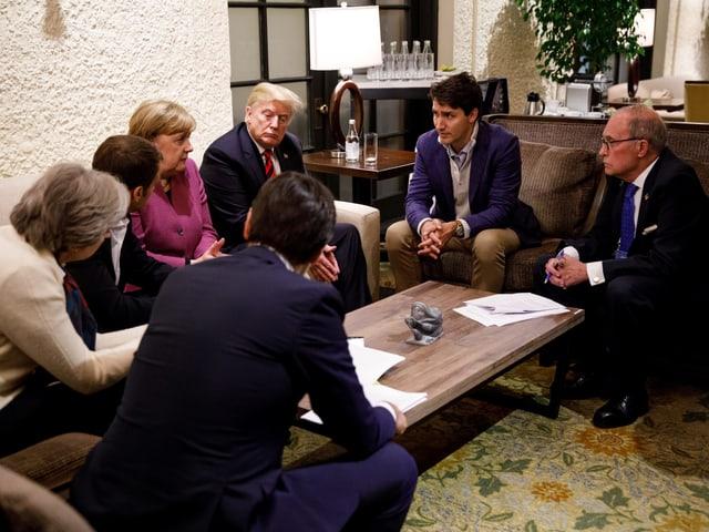 Trump am G7-Gipfel mit weiteren Staatschefs