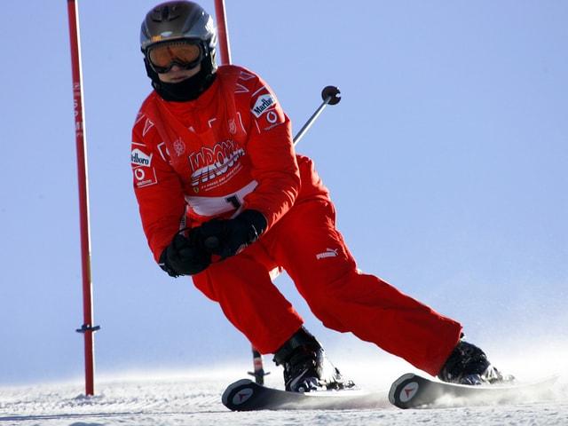 Michael Schumacher auf der Skipiste.