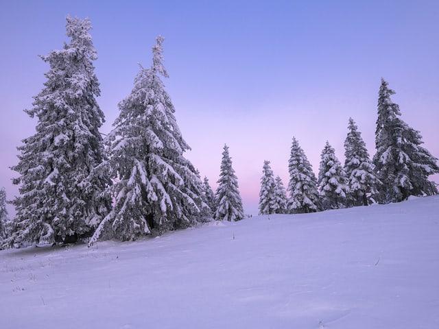 Im Jura sah es am Sonntagmorgen aus, wie in Lappland