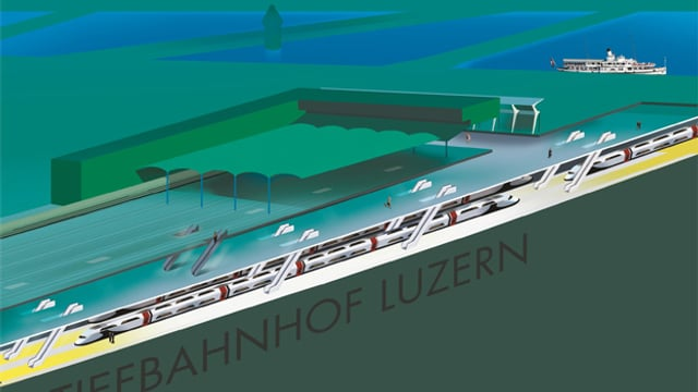 Visualisierung Luzerner Tiefbahnhof