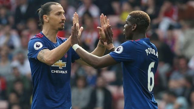 Zlatan Ibrahimovic und Paul Pogba.