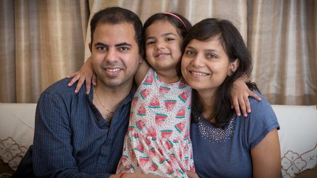 Ein Porträt der Familie Budhwar Goyal.
