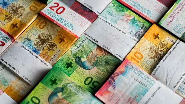 plunas da bancnotas da 10, 20 e 50 fr.