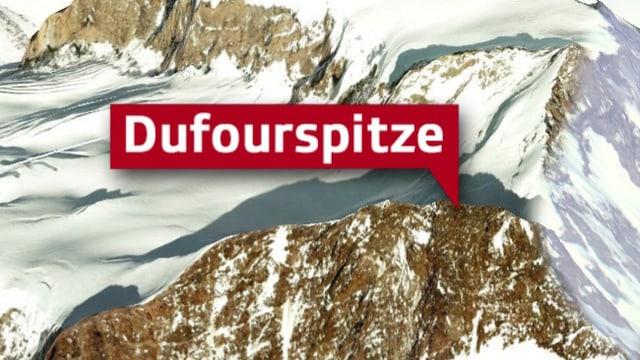 Dufourspitze aus der Luft gesehen