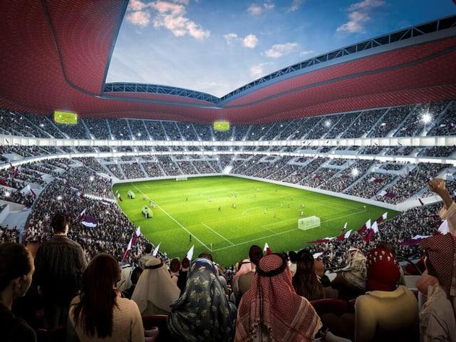 Das Al-Bayt-Stadion.