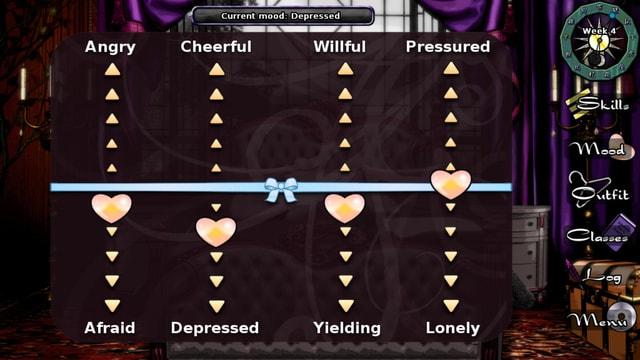 Eine Computergrafik, in der Herzen den Stand von vier verschiedenen Stimmungslagen anzeigen.