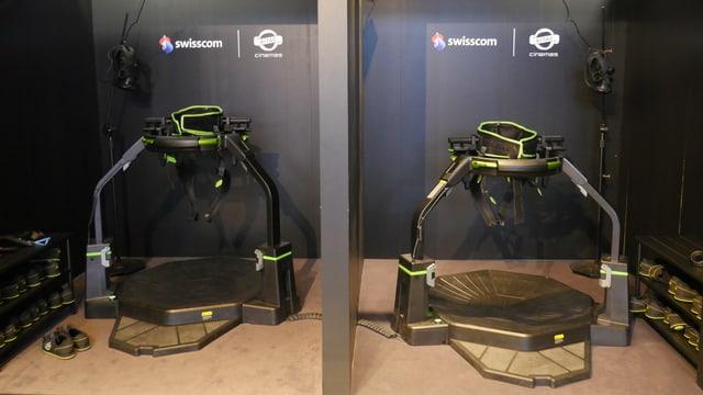 Zwei Treadmills im Kitag Cinemas im Abaton.