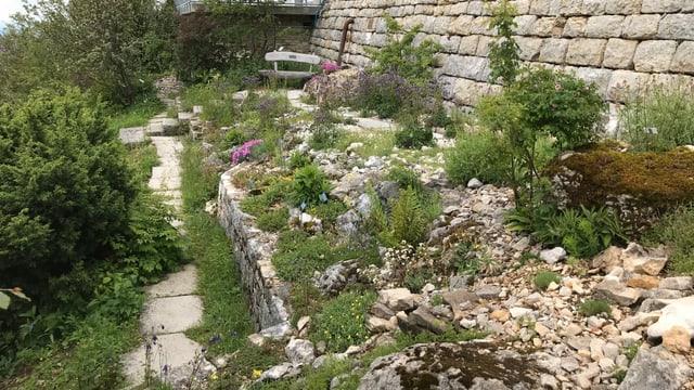 Terrassierter Garten