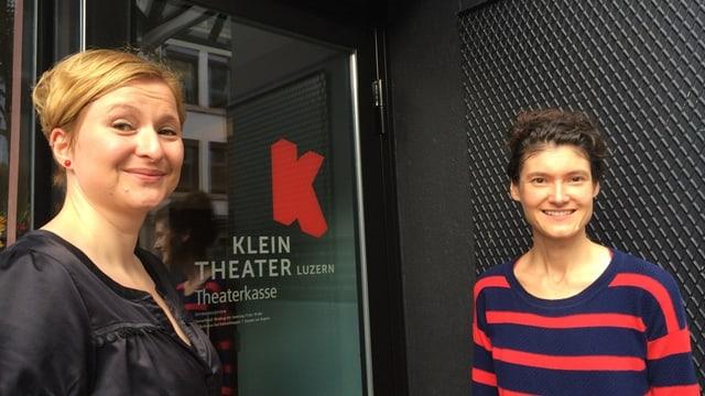 Caroline Haas (links) und Sonja Eisl (rechts) sind die neuen Co-Leiterinnen des Kleintheaters Luzern.