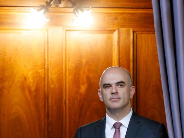 Alain Berset während der entscheidenden Debatte im Nationalrat.