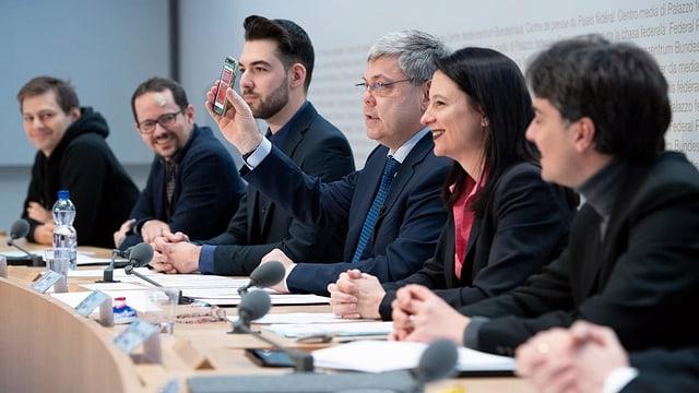 Initiativkomitee für ein E-Voting-Moratorium an der Medienkonferenz