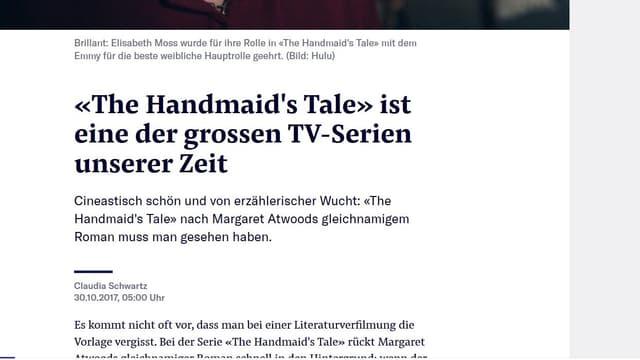 Lob von der Neuen Zürcher Zeitung.