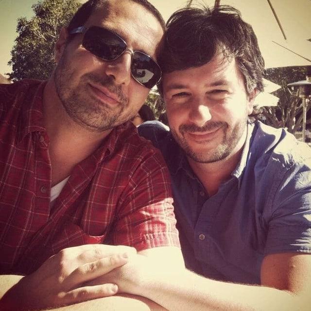Christian Franzoso (r.) und sein australischer Freund Peter Loukopoulos.