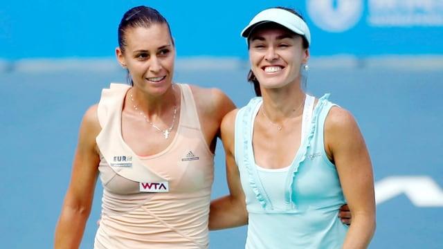 Flavia Pennetta und Martina Hingis stehen in Moskau im Endspiel.
