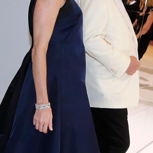 Fürstin Charlene und Fürst Albert II von Monaco am Rot-Kreuz-Ball.