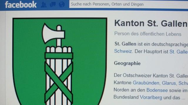 Der Kanton St. Gallen im Internet.