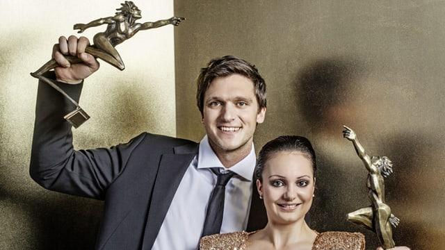Mike Schmid und Sarah Meier engagieren sich als Botschafter der «Sports Awards».