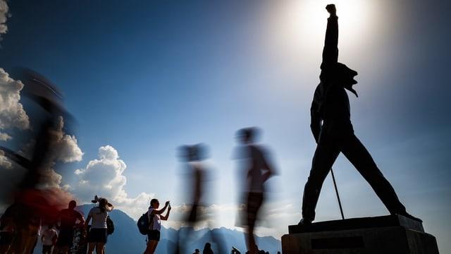 Freddy-Mercury-Denkmal in Montreux.