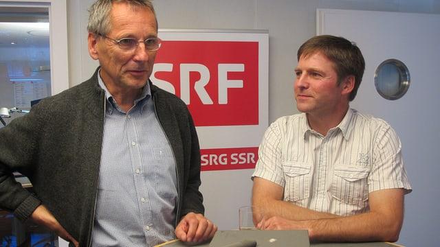 Die Innerrhoder Landammann Kandidaten Roland Inauen und Josef Schmid.