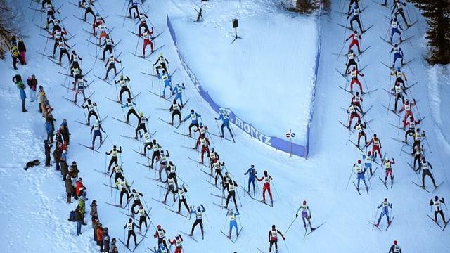 Maraton da skis engiadinais.