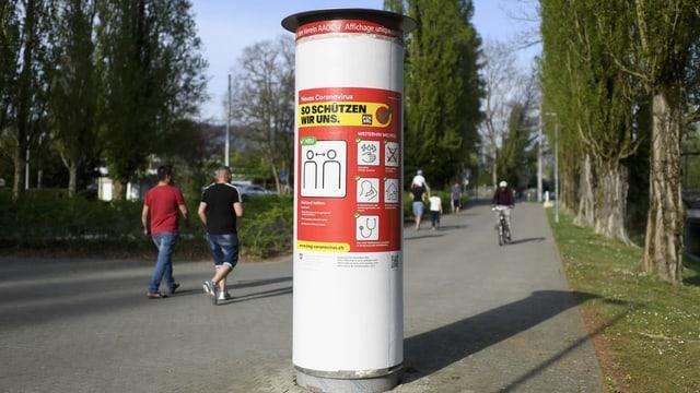 BAG-Plakat mit Informationskampagne