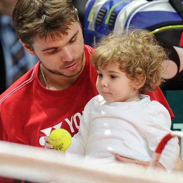Stanislas Wawrinka mit seiner Tochter Alexia
