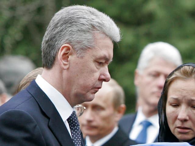 Moskaus Bürgermeister Sergei Semjonowitsch Sobjanin