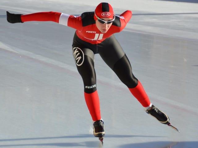 Schlittschuhläuferin auf dem Eis