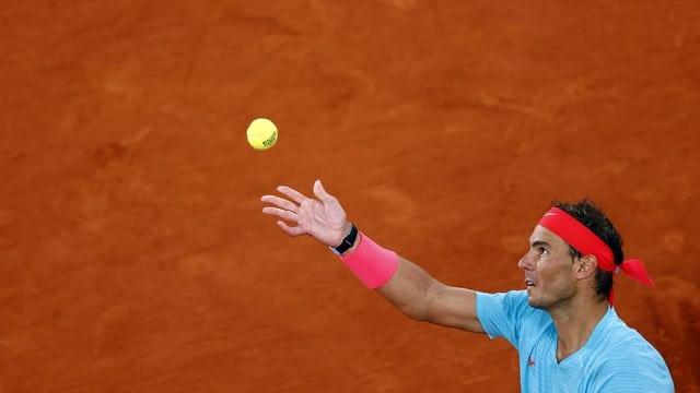 Rafael Nadal avant sia victoria.