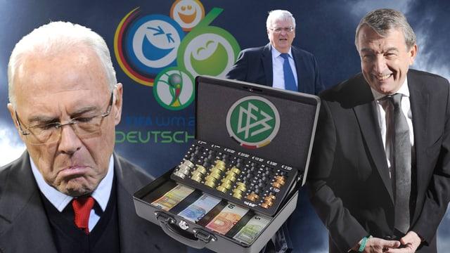 Franz Beckenbauer (l.), Theo Zwanziger (Mitte) und Wolfgang Niersbach.